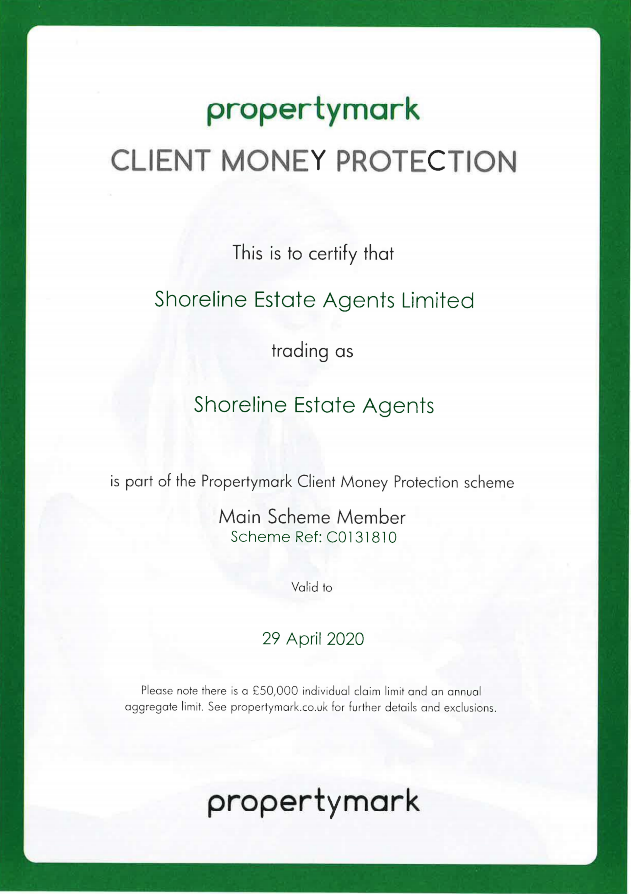 CMP Certificate Shoreline Estate Agents Limited